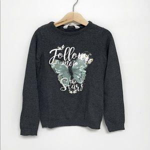 H&M Butterfly Knit Sweater Size 6/7